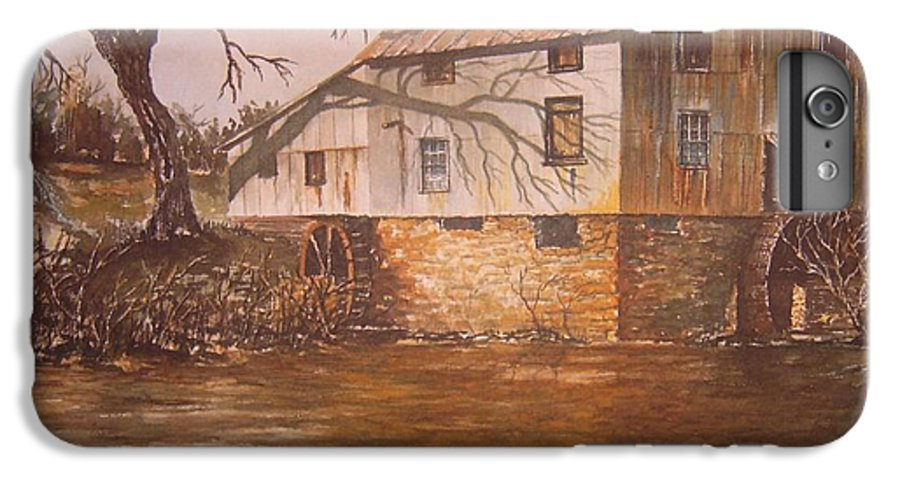 Landscape IPhone 6 Plus Case featuring the painting Anderson Mill by Ben Kiger
