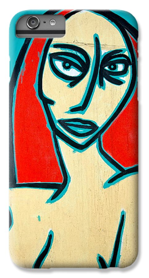 Oil IPhone 6 Plus Case featuring the painting Angry Jen by Thomas Valentine