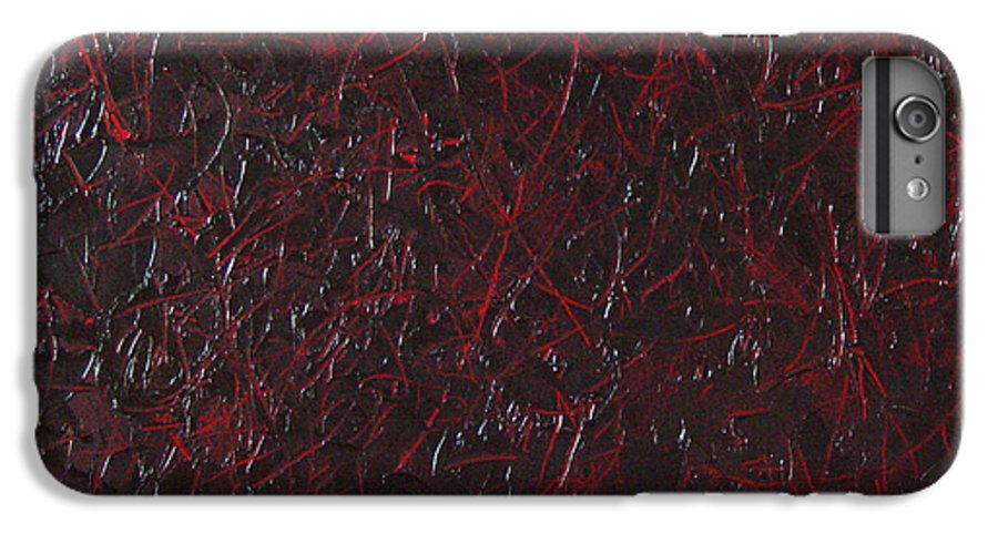 Abstract IPhone 6 Plus Case featuring the painting Another Shedding by Dean Triolo