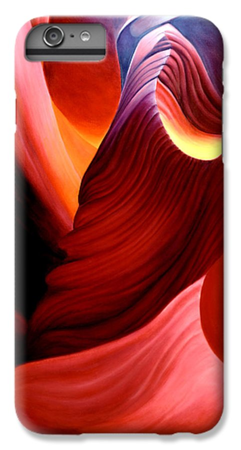 Antelope Canyon IPhone 6 Plus Case featuring the painting Antelope Magic by Anni Adkins