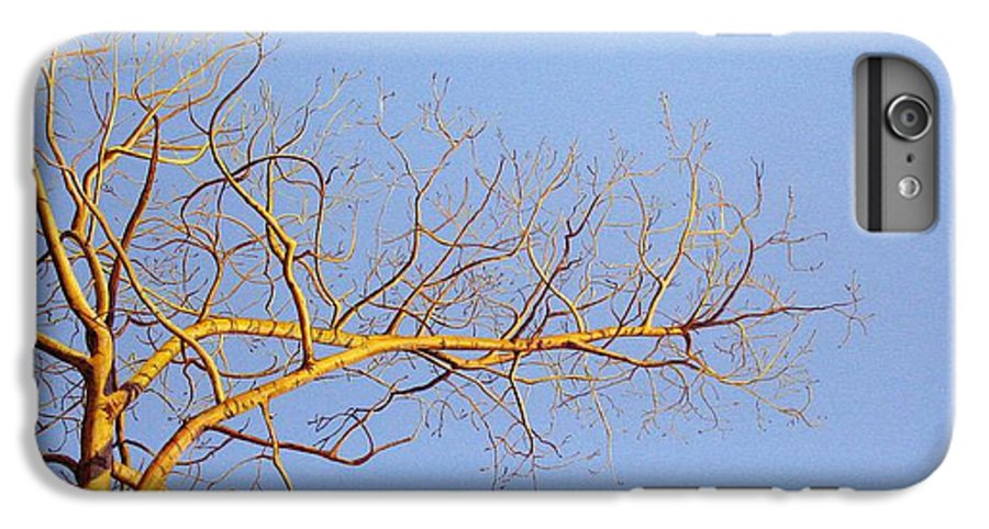 Aspen Painting IPhone 6 Plus Case featuring the painting Aspen In The Autumn Sun by Elaine Booth-Kallweit