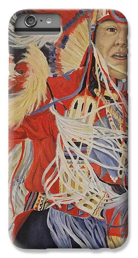 Indian IPhone 6 Plus Case featuring the painting At The Powwow by Wanda Dansereau