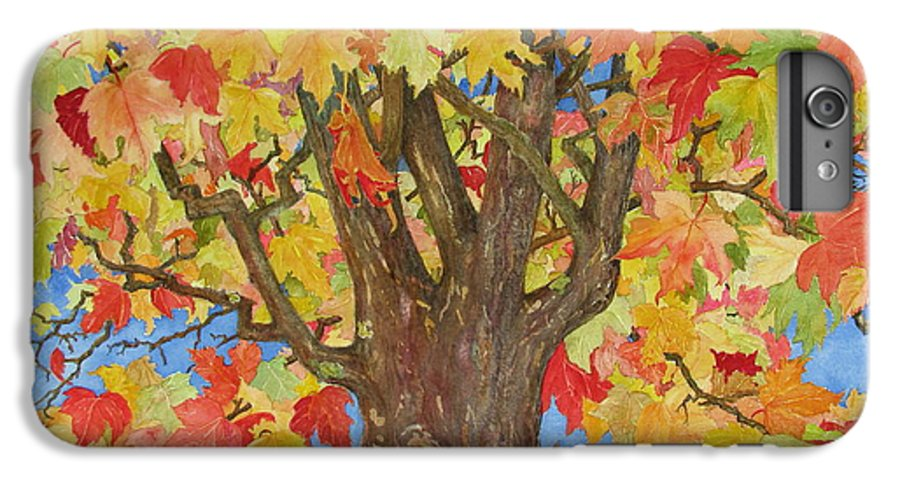 Leaves IPhone 6 Plus Case featuring the painting Autumn Leaves 1 by Mary Ellen Mueller Legault