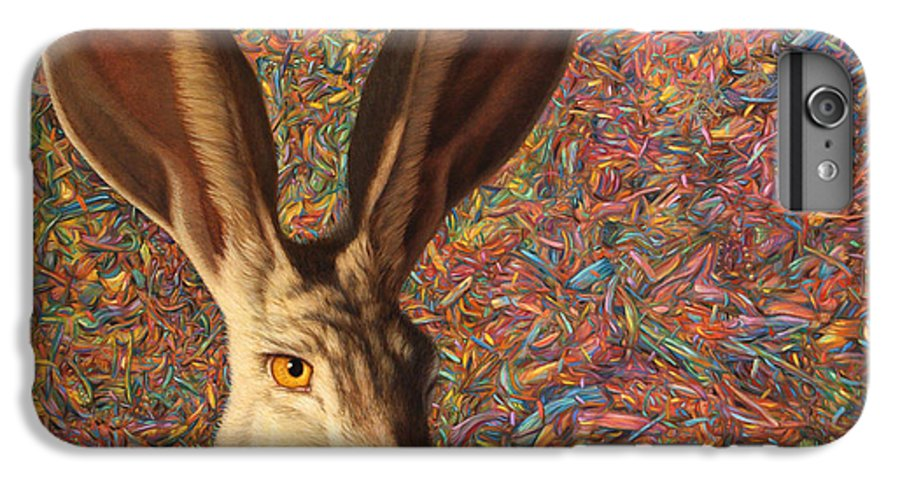 Rabbit IPhone 6 Plus Case featuring the painting Background Noise by James W Johnson
