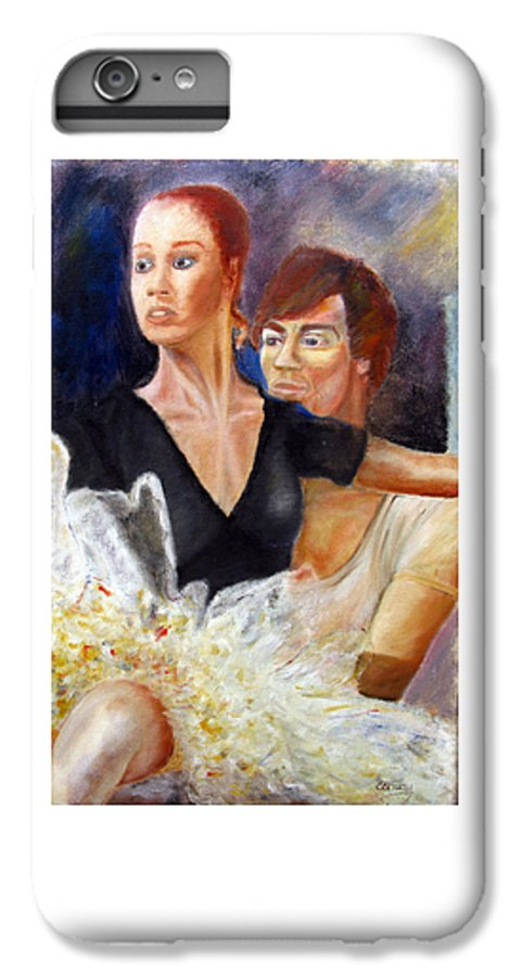 Ballet IPhone 6 Plus Case featuring the painting Ballet Dancers Rehearse For La Bayadere by Tom Conway