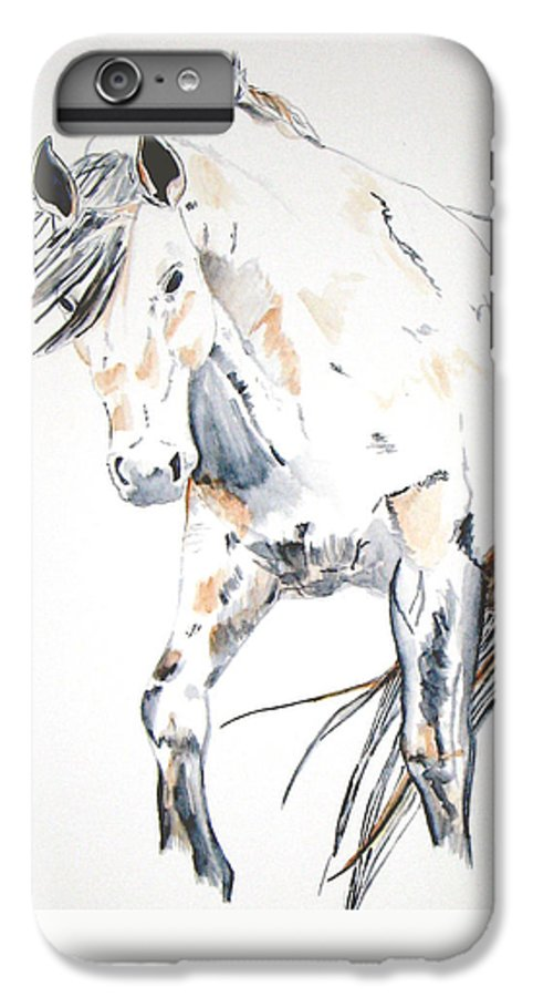 Horse IPhone 6 Plus Case featuring the painting Beauty by Crystal Hubbard