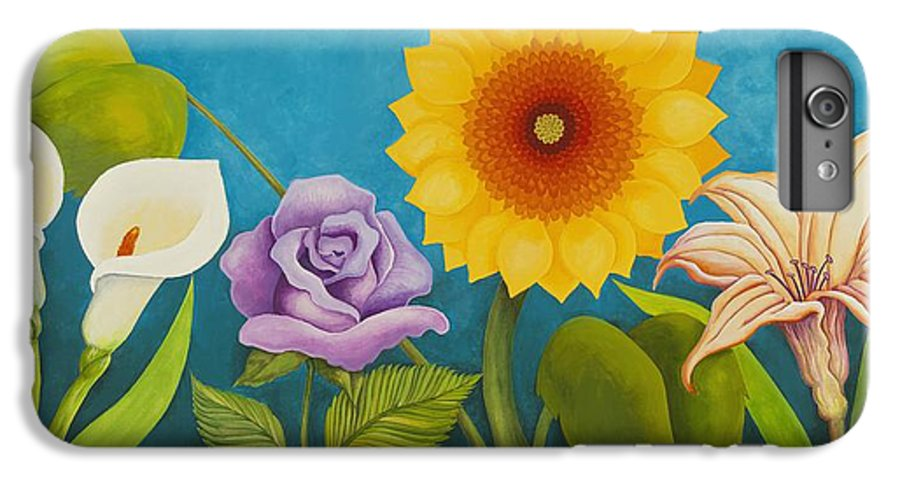 Art IPhone 6 Plus Case featuring the painting Best Friends by Carol Sabo