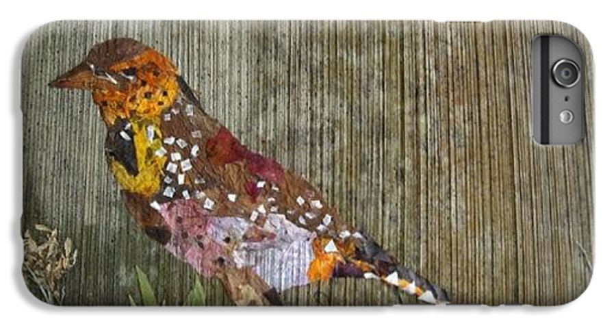 Bar-bat Bird IPhone 6 Plus Case featuring the mixed media Bird Barbet by Basant Soni