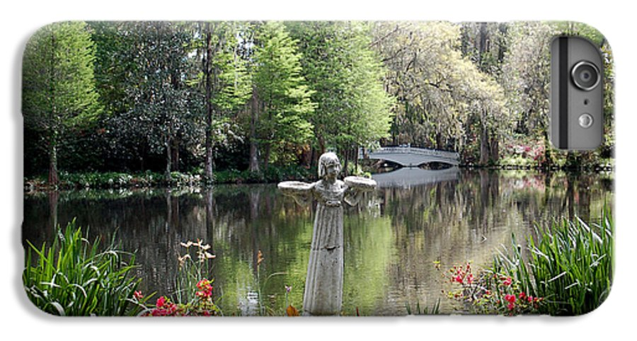 Bird Girl IPhone 6 Plus Case featuring the photograph Bird Girl Of Magnolia Plantation Gardens by Suzanne Gaff
