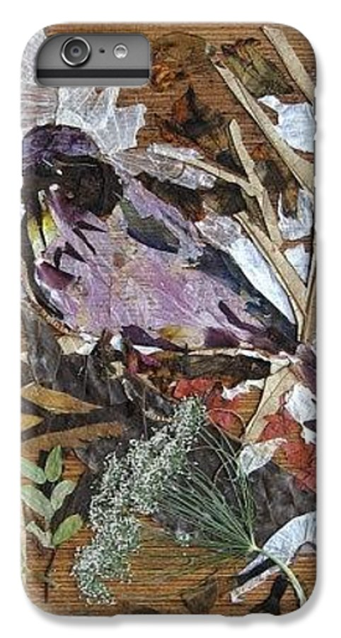 Bird Scrub Joy IPhone 6 Plus Case featuring the mixed media Bird Scubjoy by Basant Soni