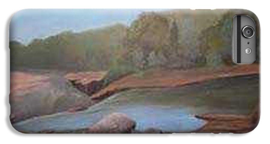 Rick Huotari IPhone 6 Plus Case featuring the painting Black River Falls by Rick Huotari