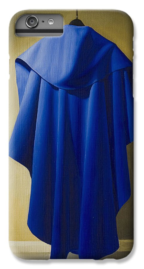 Realism IPhone 6 Plus Case featuring the painting Blue Cape by Gary Hernandez
