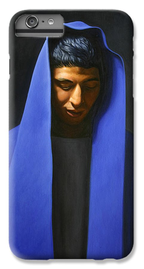 Blue IPhone 6 Plus Case featuring the painting Blue by Gary Hernandez