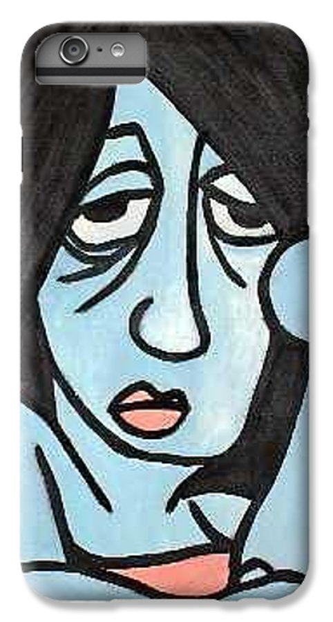 Portrait IPhone 6 Plus Case featuring the painting Blue by Thomas Valentine