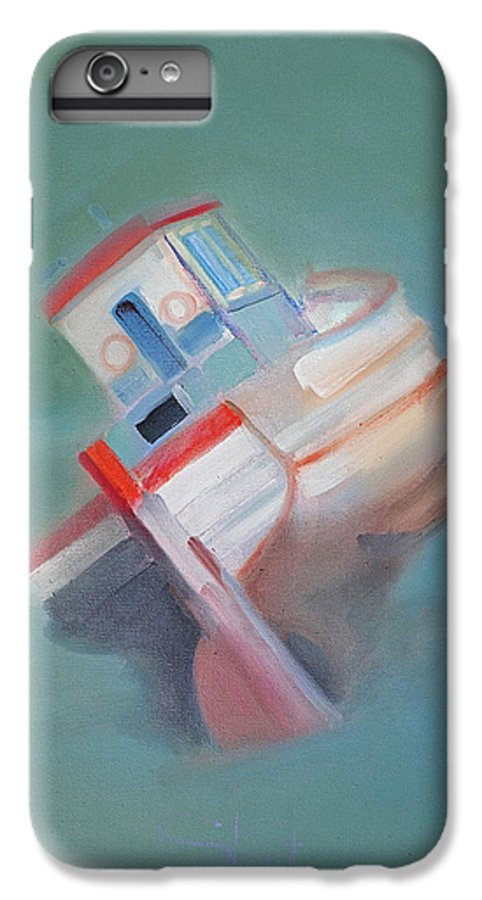 Fishing Boat IPhone 6 Plus Case featuring the painting Boat Retired Tavira by Charles Stuart