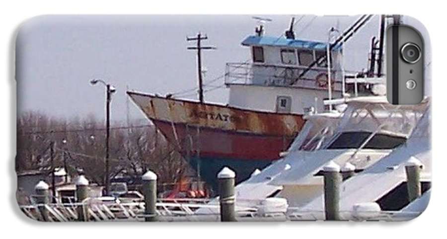 Boat IPhone 6 Plus Case featuring the photograph Boats Docked by Pharris Art