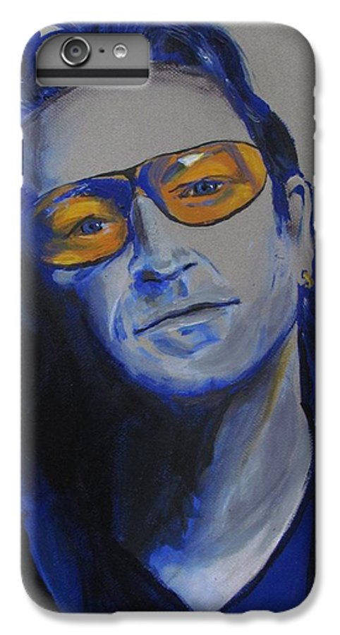 Celebrity Portraits IPhone 6 Plus Case featuring the painting Bono U2 by Eric Dee