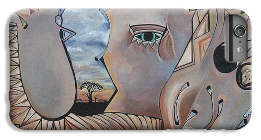 Abstract IPhone 6 Plus Case featuring the painting Bounded by Aimee Vance