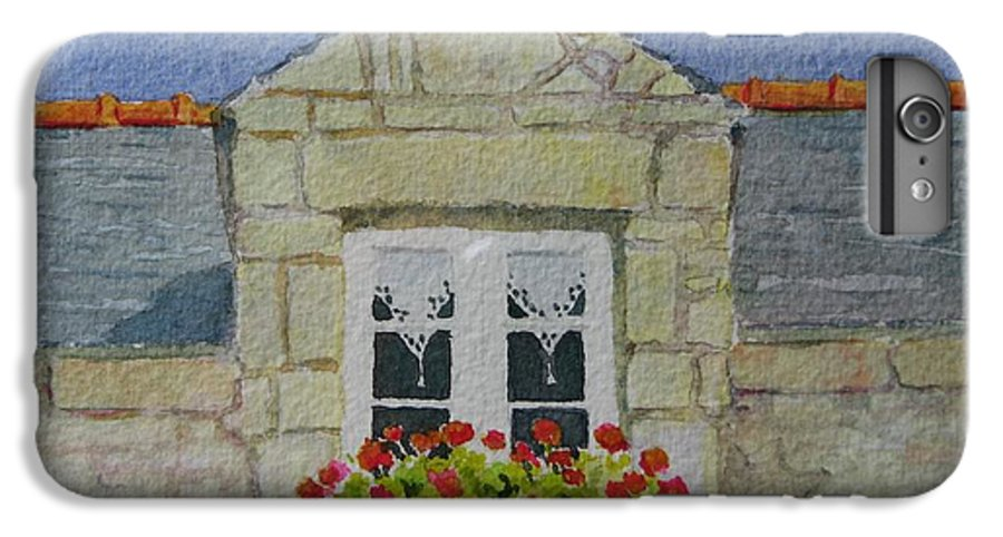 France IPhone 6 Plus Case featuring the painting Bretagne Window by Mary Ellen Mueller Legault