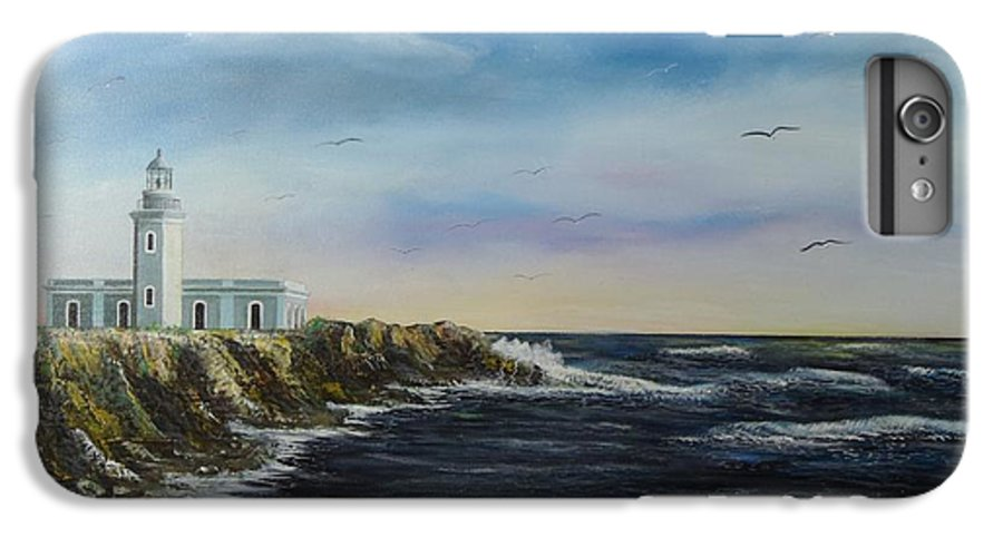 Cabo Rojo Lighthouse IPhone 6 Plus Case featuring the painting Cabo Rojo Lighthouse by Tony Rodriguez