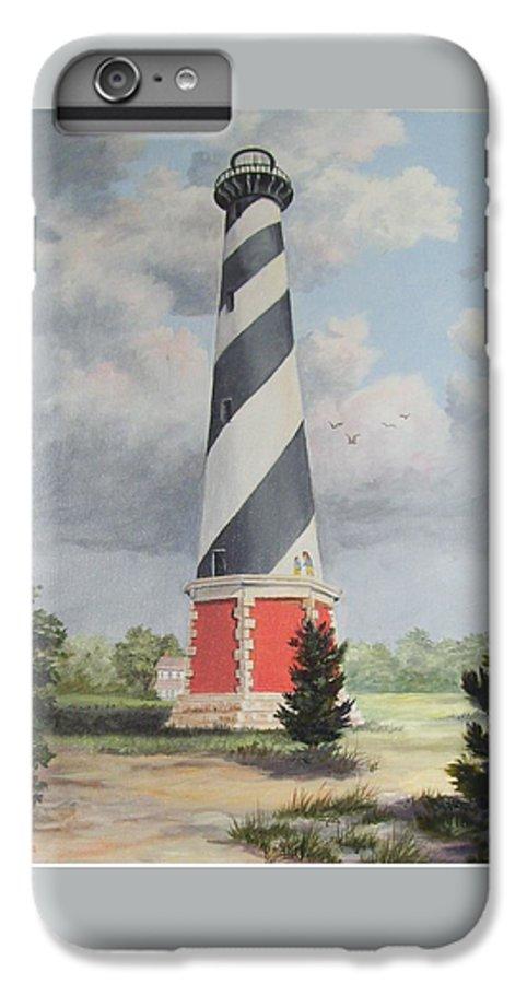 Sunrise Clouds IPhone 6 Plus Case featuring the painting Cape Hatteris Sunrise by Wanda Dansereau