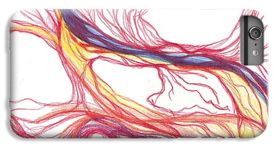 Capillaries IPhone 6 Plus Case featuring the drawing Capillaries by Lindsay Clark