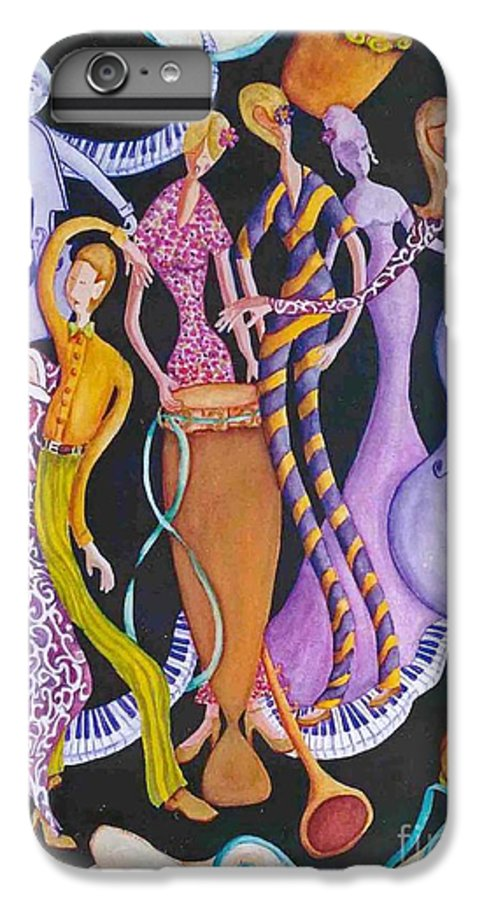 Dancers IPhone 6 Plus Case featuring the painting Caribbean Calypso by Arleen Barton