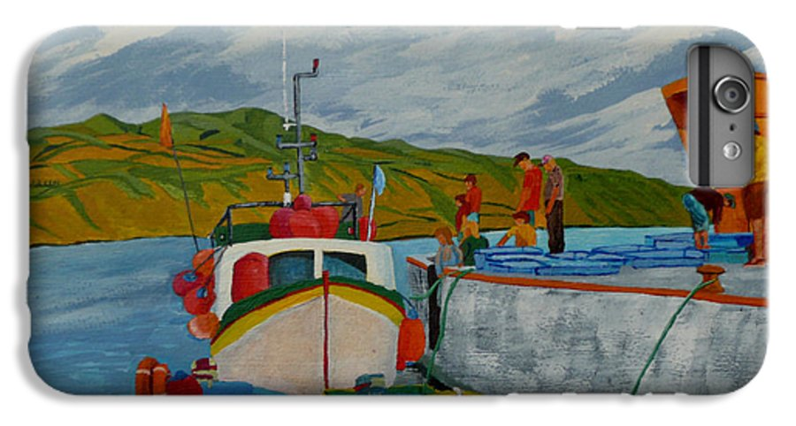 Boats IPhone 6 Plus Case featuring the painting Catch Of The Day by Anthony Dunphy