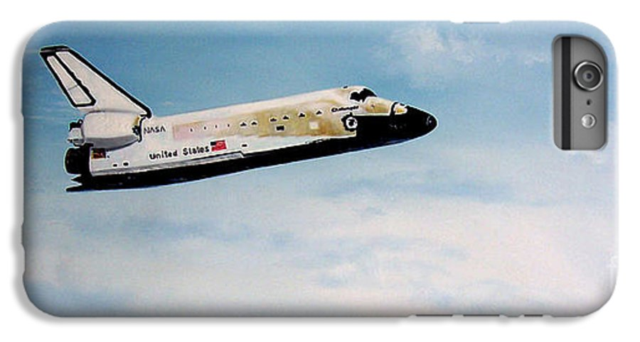 Shuttle IPhone 6 Plus Case featuring the painting Challenger by Murphy Elliott