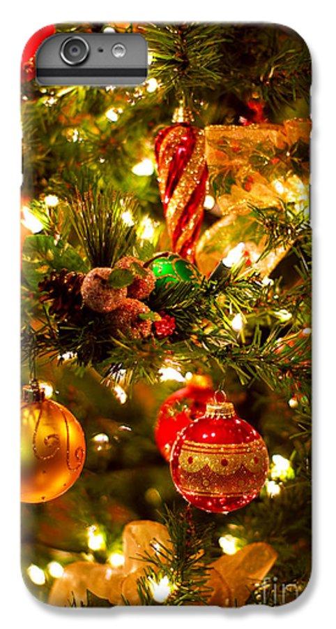 Christmas Tree Background.Christmas Tree Background Iphone 6 Plus Case