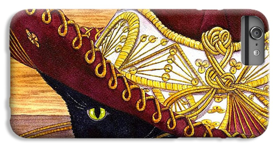 Cat IPhone 6 Plus Case featuring the painting Cinco De Mayo by Catherine G McElroy