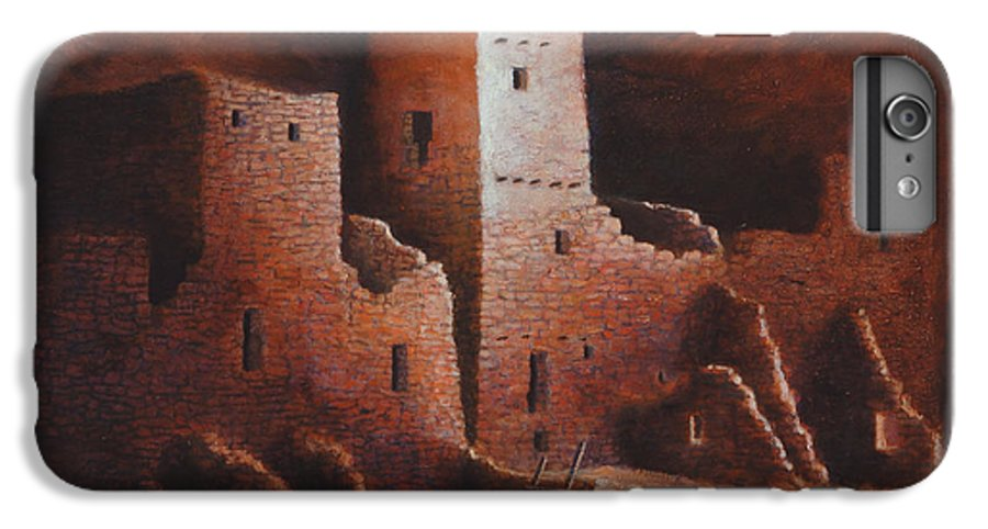 Anasazi IPhone 6 Plus Case featuring the painting Cliff Palace by Jerry McElroy