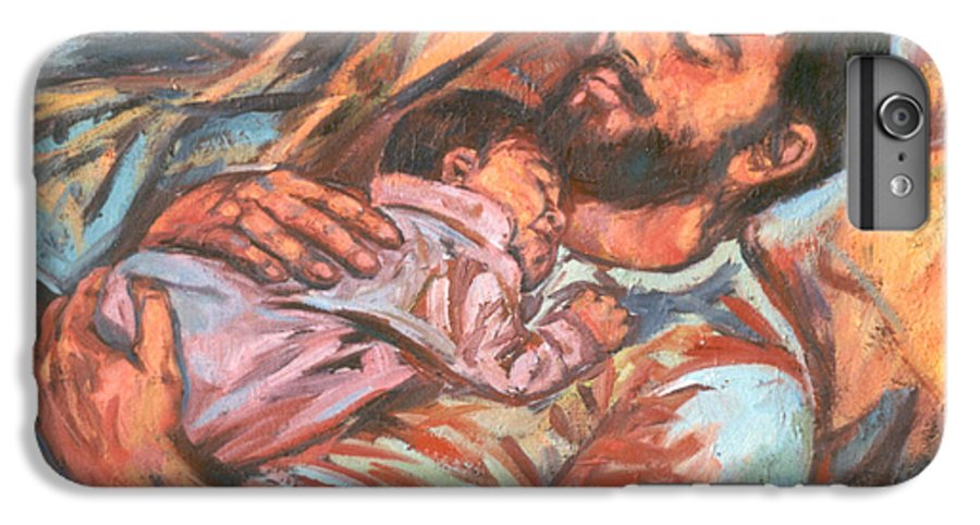 Figure IPhone 6 Plus Case featuring the painting Clyde And Alan by Kendall Kessler
