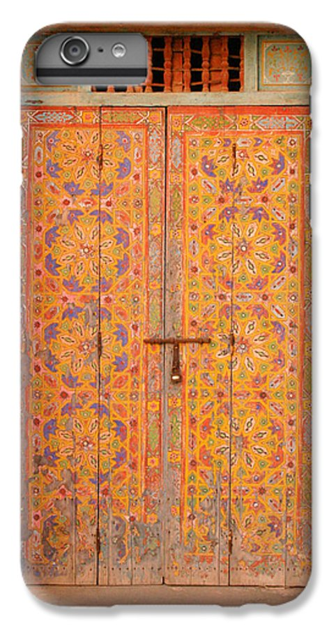 Door IPhone 6 Plus Case featuring the photograph Colourful Entrance Door Sale Rabat Morocco by Ralph A Ledergerber-Photography