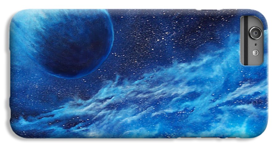 Astro IPhone 6 Plus Case featuring the painting Comet Experience by Murphy Elliott