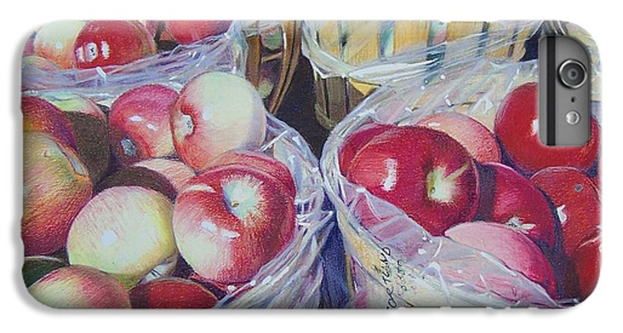 Apple IPhone 6 Plus Case featuring the mixed media Cortland Apples by Constance Drescher