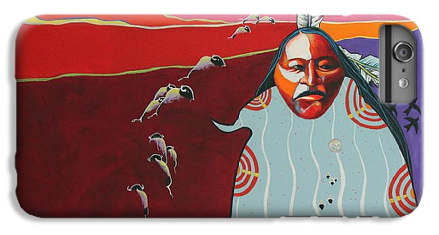 Native American IPhone 6 Plus Case featuring the painting Creation by Joe Triano