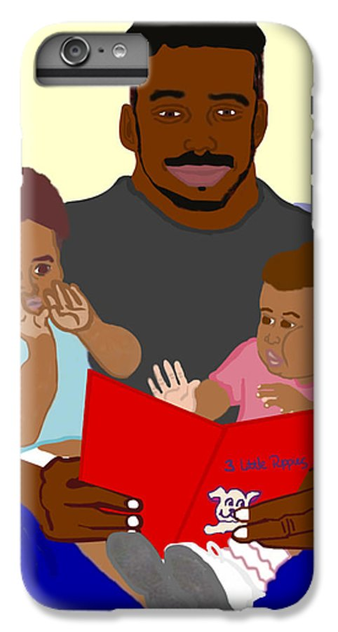 Dad IPhone 6 Plus Case featuring the painting Daddy's Bundles by Pharris Art