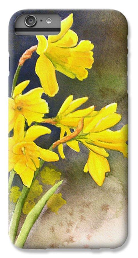 Rick Huotari IPhone 6 Plus Case featuring the painting Daffodils by Rick Huotari