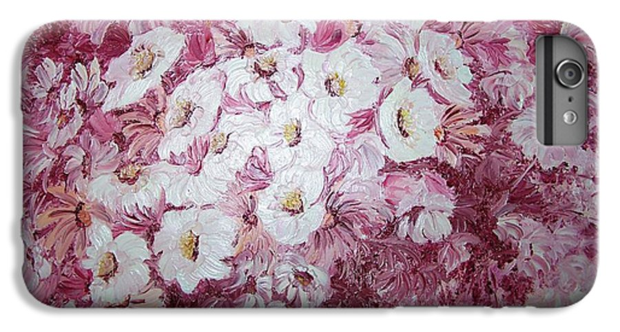 IPhone 6 Plus Case featuring the painting Daisy Blush by Karin Dawn Kelshall- Best
