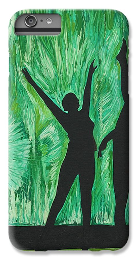 Abstract IPhone 6 Plus Case featuring the painting Dance by Aimee Vance