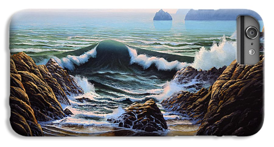 Seascape IPhone 6 Plus Case featuring the painting Dancing Tide by Frank Wilson