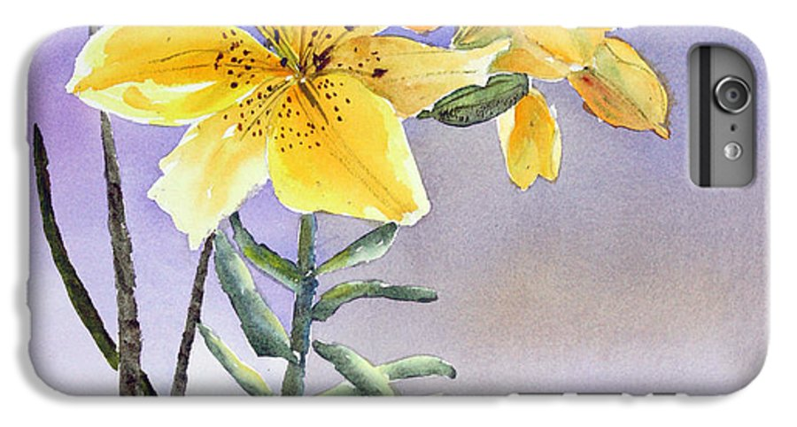Lily IPhone 6 Plus Case featuring the painting Daylilies by Patricia Novack