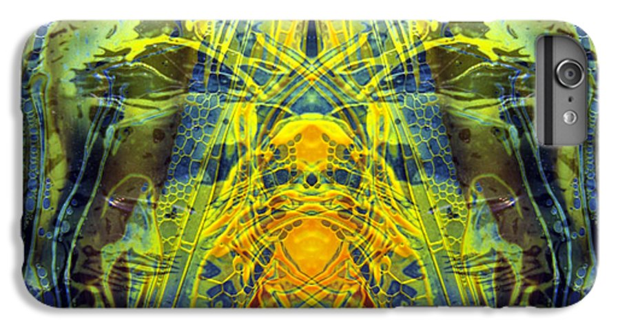 Surrealism IPhone 6 Plus Case featuring the digital art Decalcomaniac Intersection 1 by Otto Rapp
