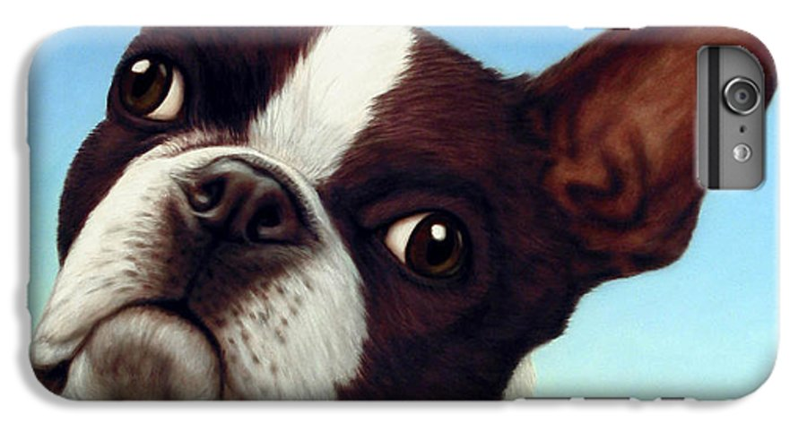 Dog IPhone 6 Plus Case featuring the painting Dog-nature 4 by James W Johnson