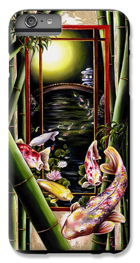 Japanese IPhone 6 Plus Case featuring the painting Dream by Hiroko Sakai
