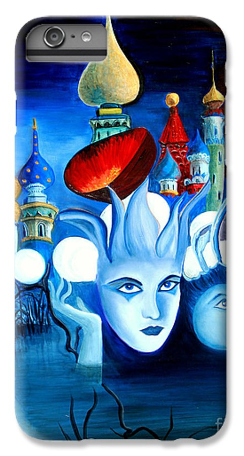 Surrealism IPhone 6 Plus Case featuring the painting Dreams by Pilar Martinez-Byrne