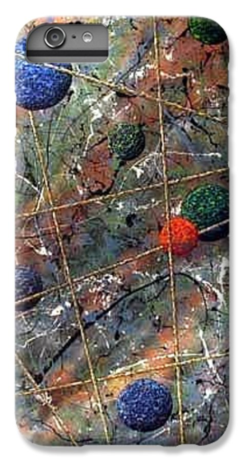 Abstract IPhone 6 Plus Case featuring the painting Dreamscape by Micah Guenther