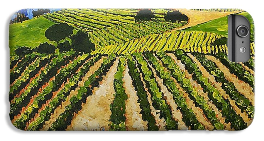 Landscape IPhone 6 Plus Case featuring the painting Early Crop by Allan P Friedlander