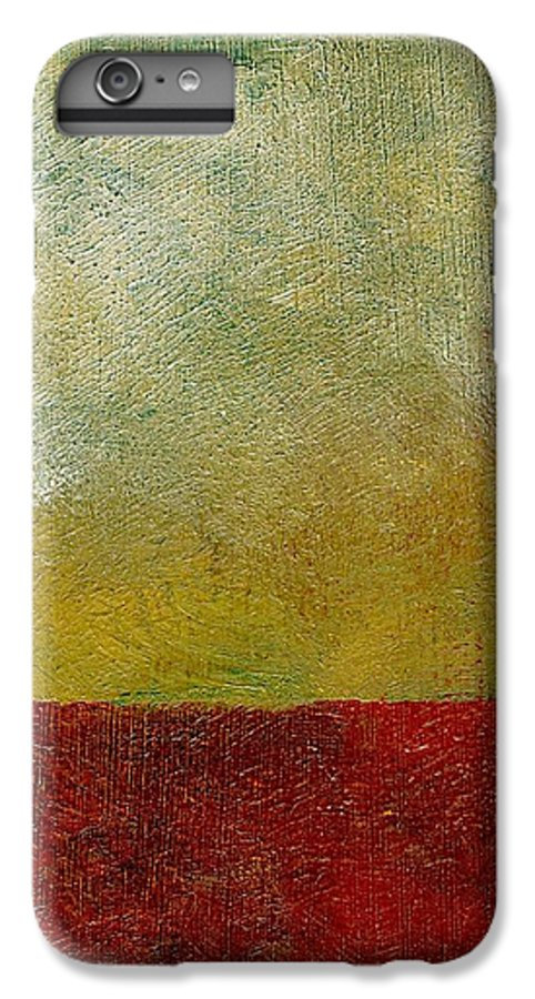 Abstract Landscape IPhone 6 Plus Case featuring the painting Earth Study One by Michelle Calkins